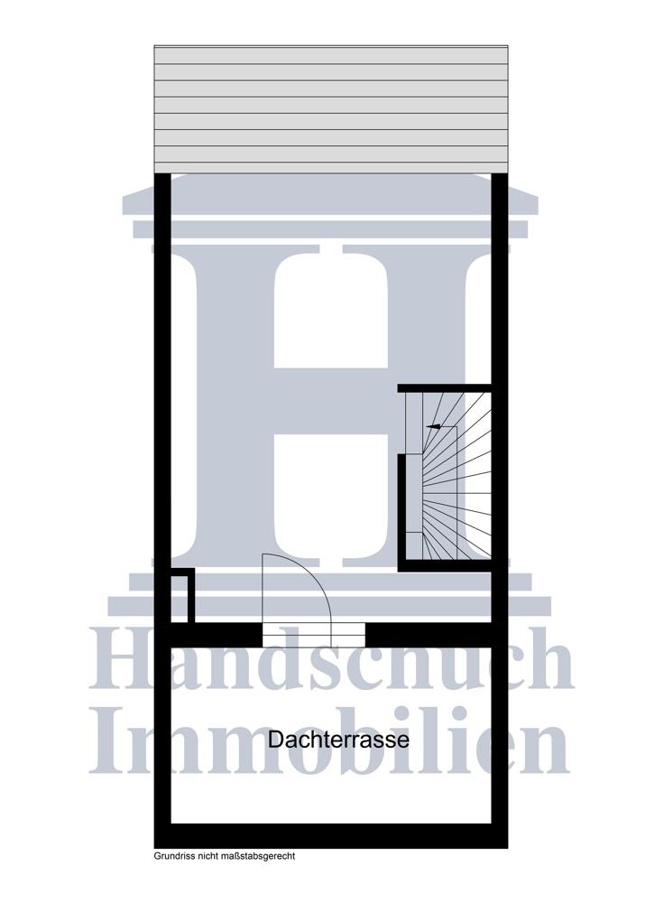 Grundriss Dachgeschoss / Studio